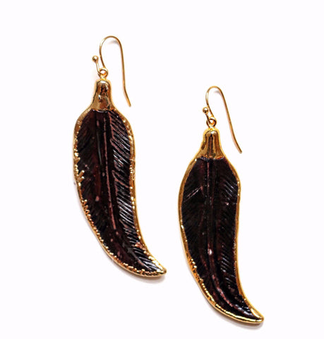 Obsidian Arrowhead Drop Earrings
