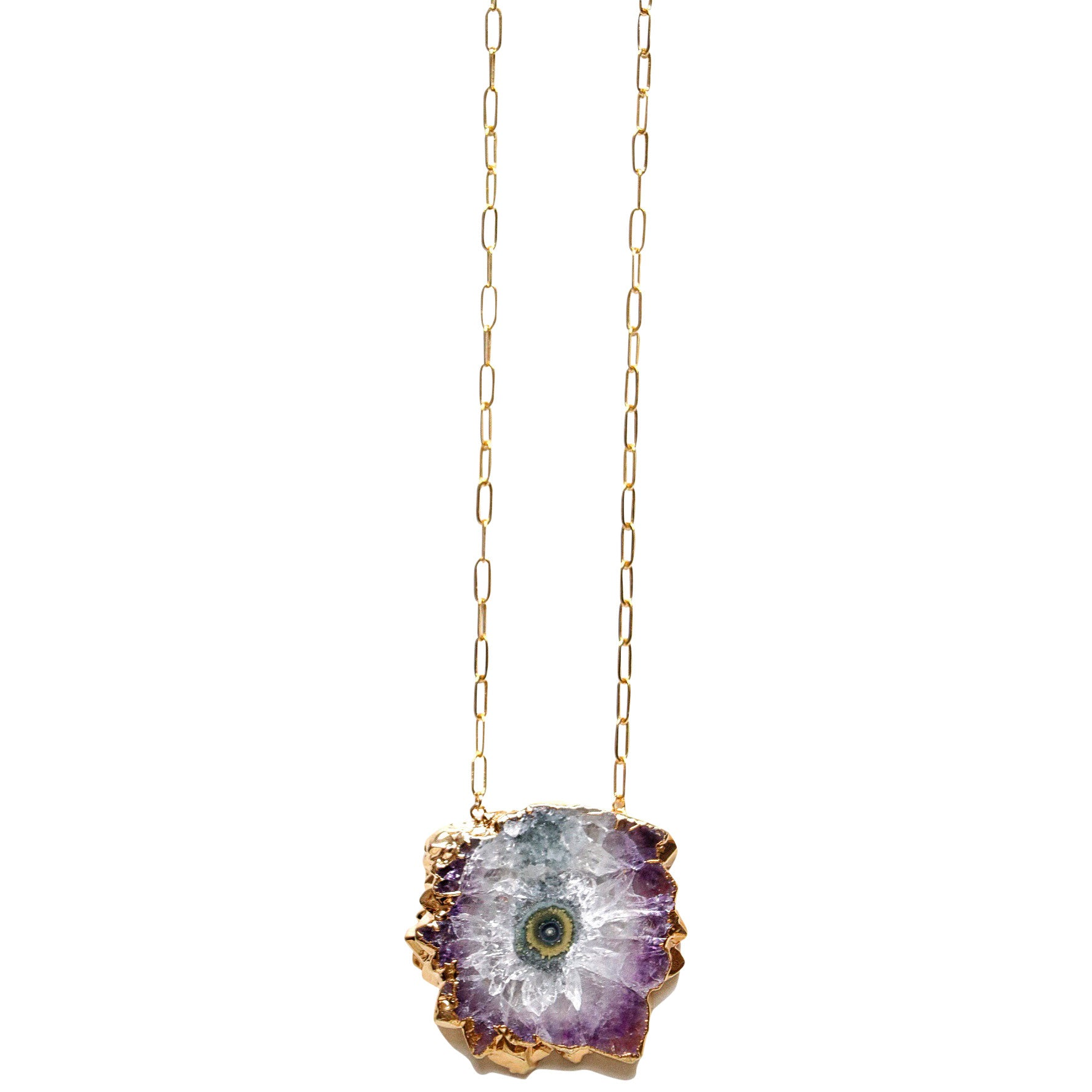 Molly Jane Designs Amethyst Slice Necklace