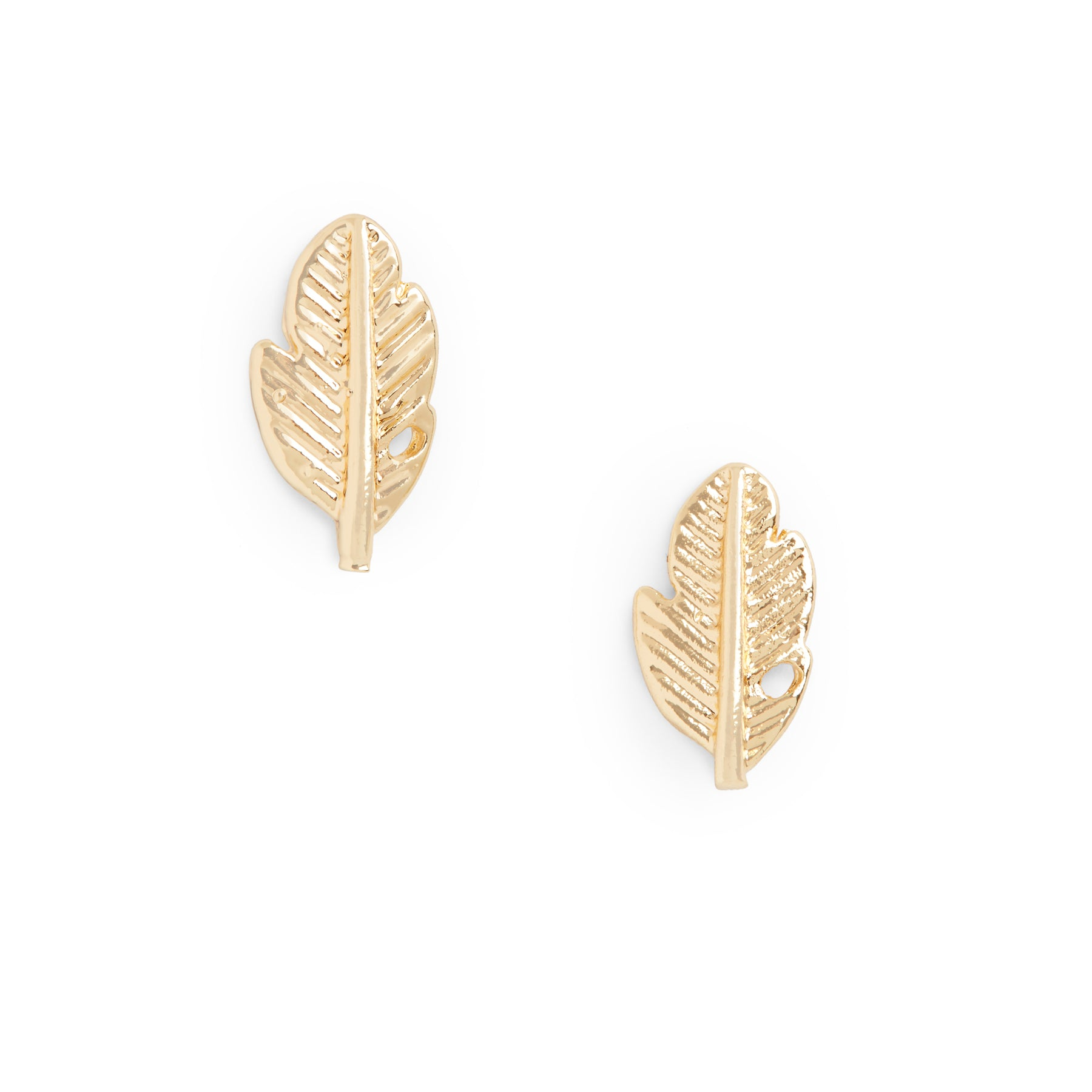 Petite Gold Leaf Earrings
