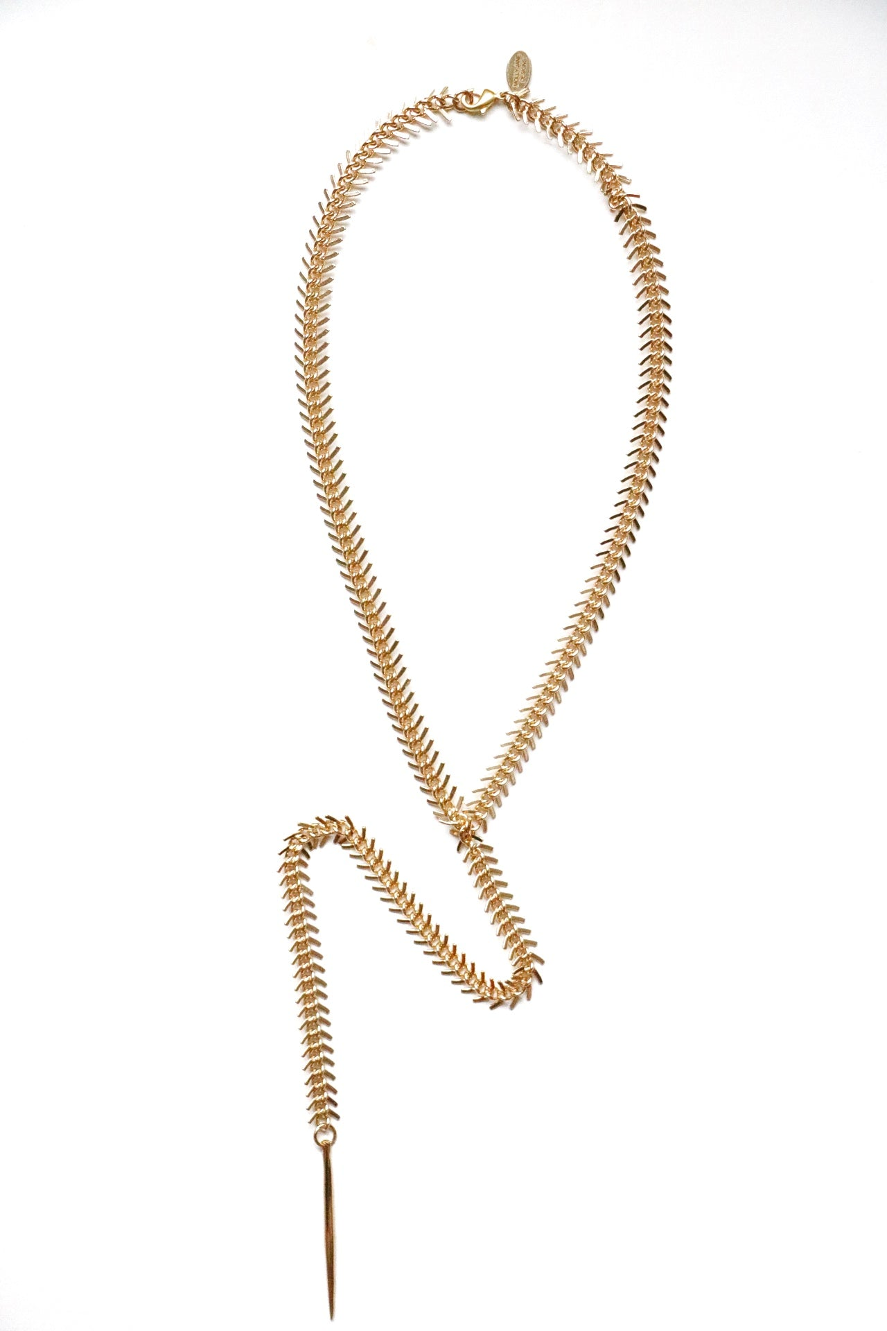 Gold Fishbone Necklace, Fishbone Chain, holiday gift guide, women's accessories,