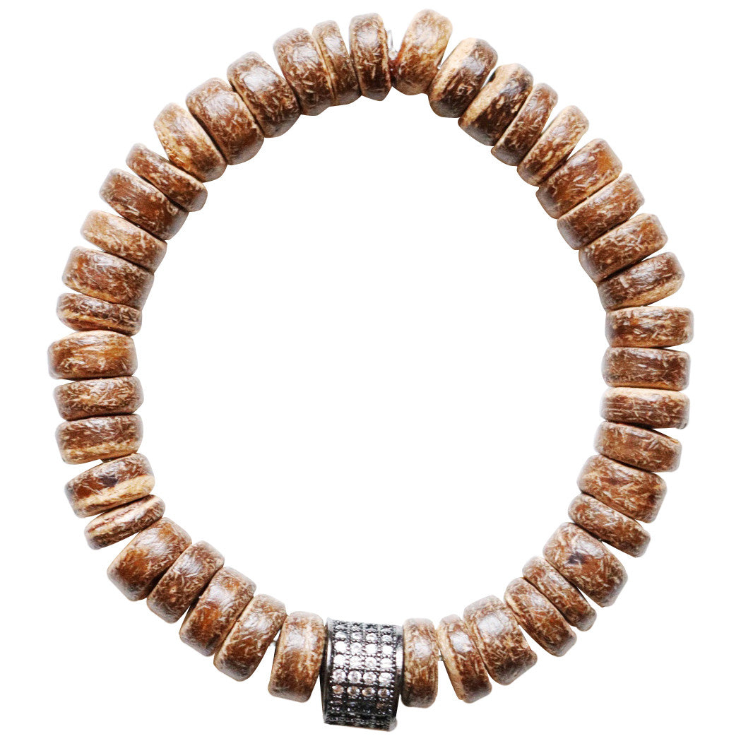 Molly Jane Designs Natural Coconut Charm Bracelet