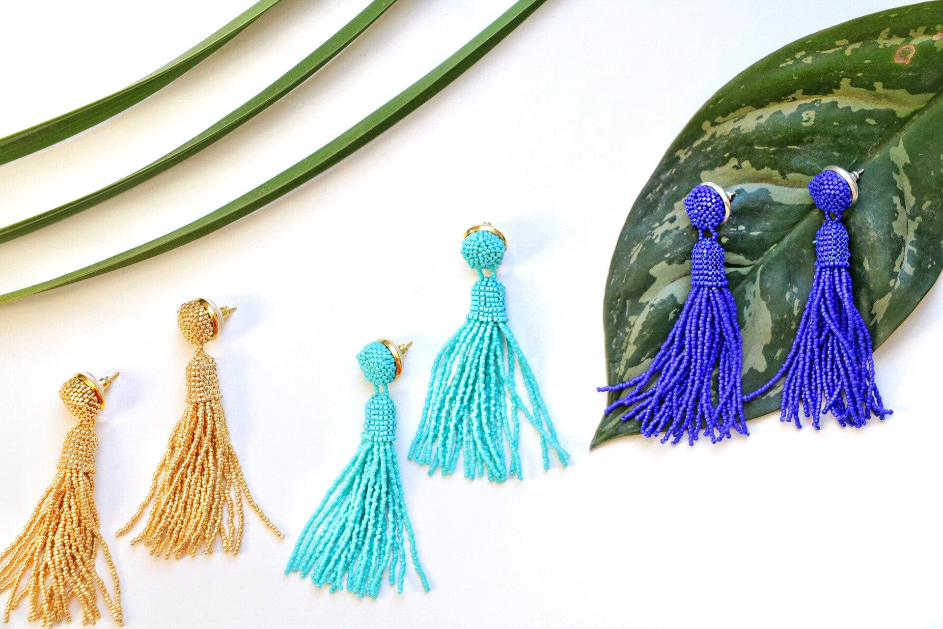 Molly Jane Designs, Blue Tassel Earrings, Earrings for Spring, Earrings to wear to a wedding, mothers day gift, bridesmaid gift, prom style, something blue, warm weather accessories