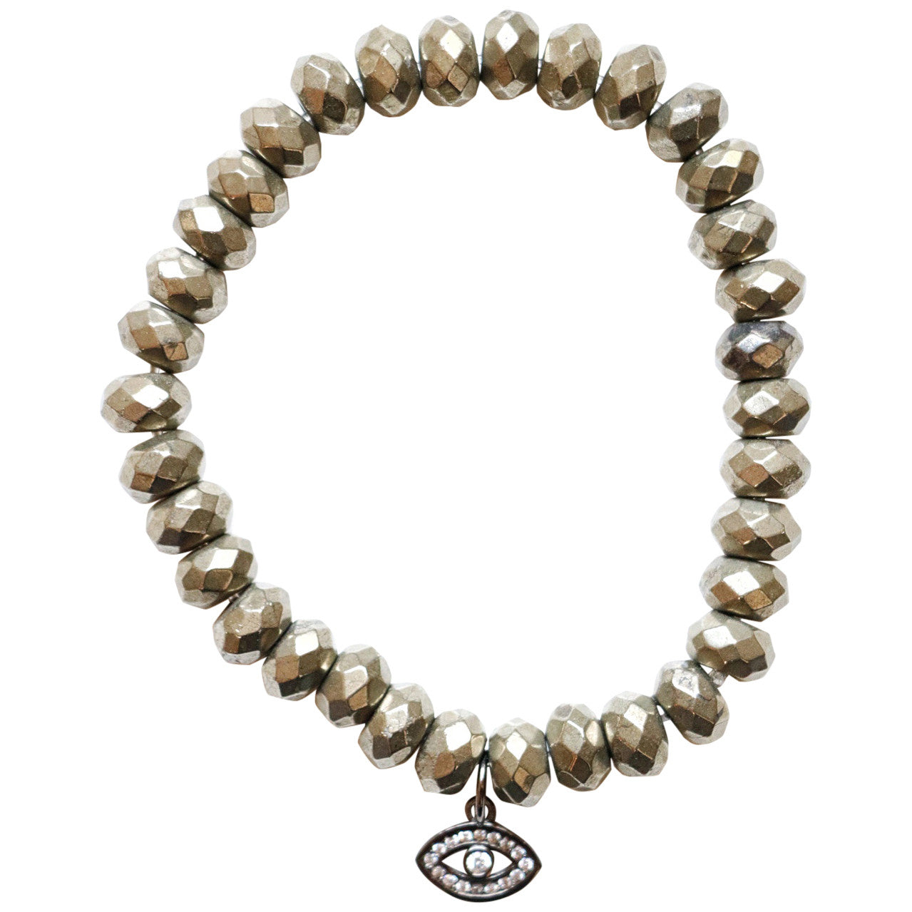 Molly Jane Designs Rondell Pyrite Charm Bracelet