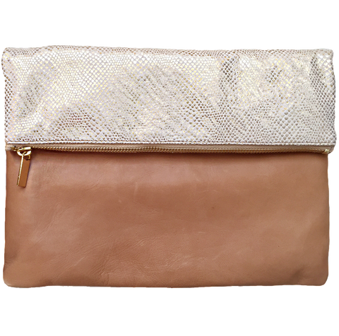 Molly Jane Handbags, Southern Living Handbags, southern designer handbags, Gifts for her, Holiday Wishlist, honey colored handbag, leather clutch, champagne handbags, embossed leather handbag, The perfect clutch