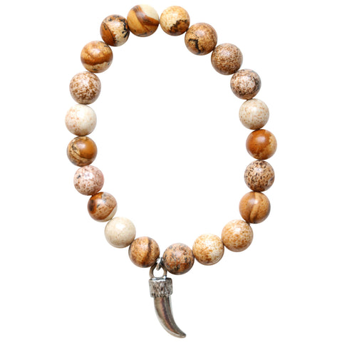 Earth Toned Agate Charm Bracelet