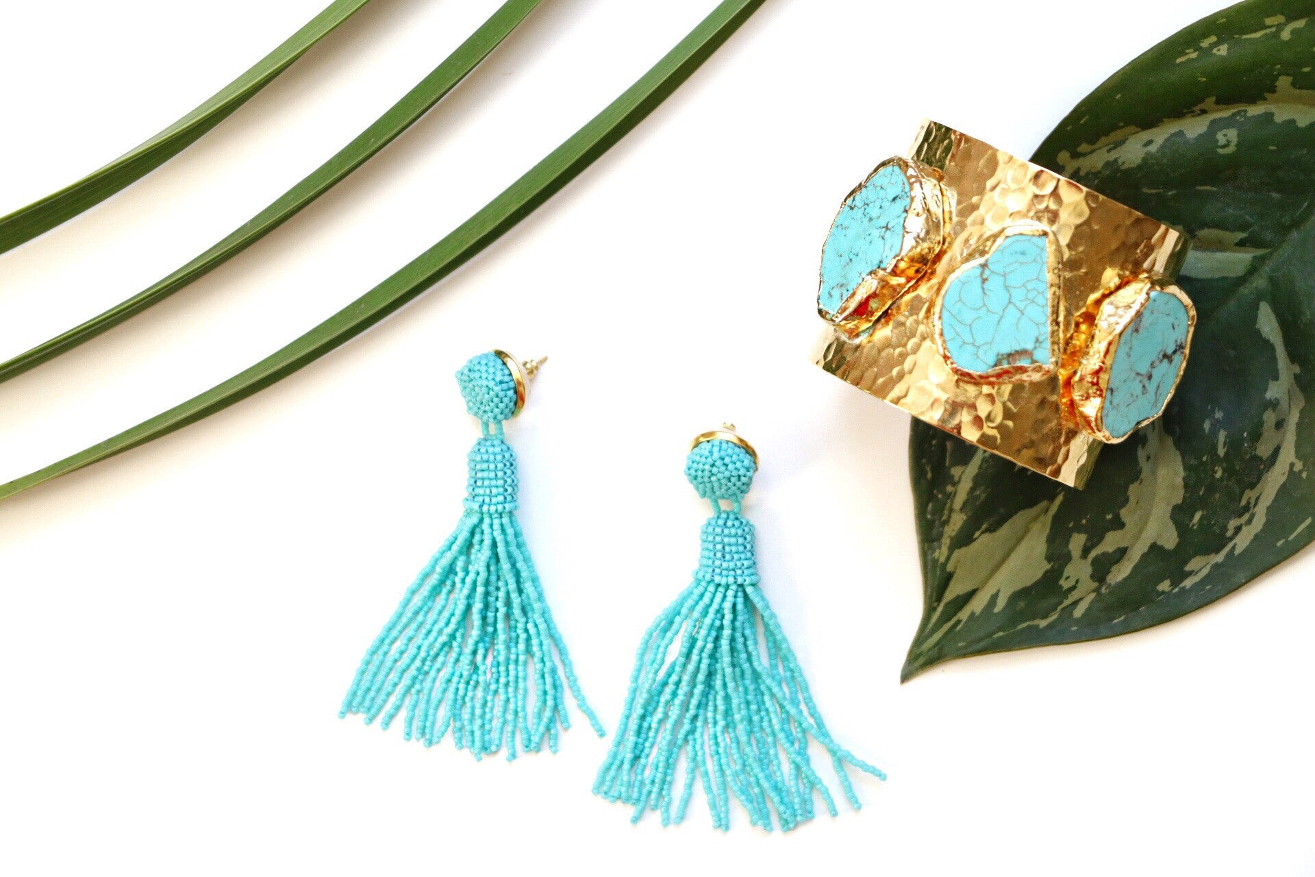 tassel earrings, turquoise tassel earrings, statement earrings to wear for summer, earrings to wear to a wedding, mothers day gift ideas