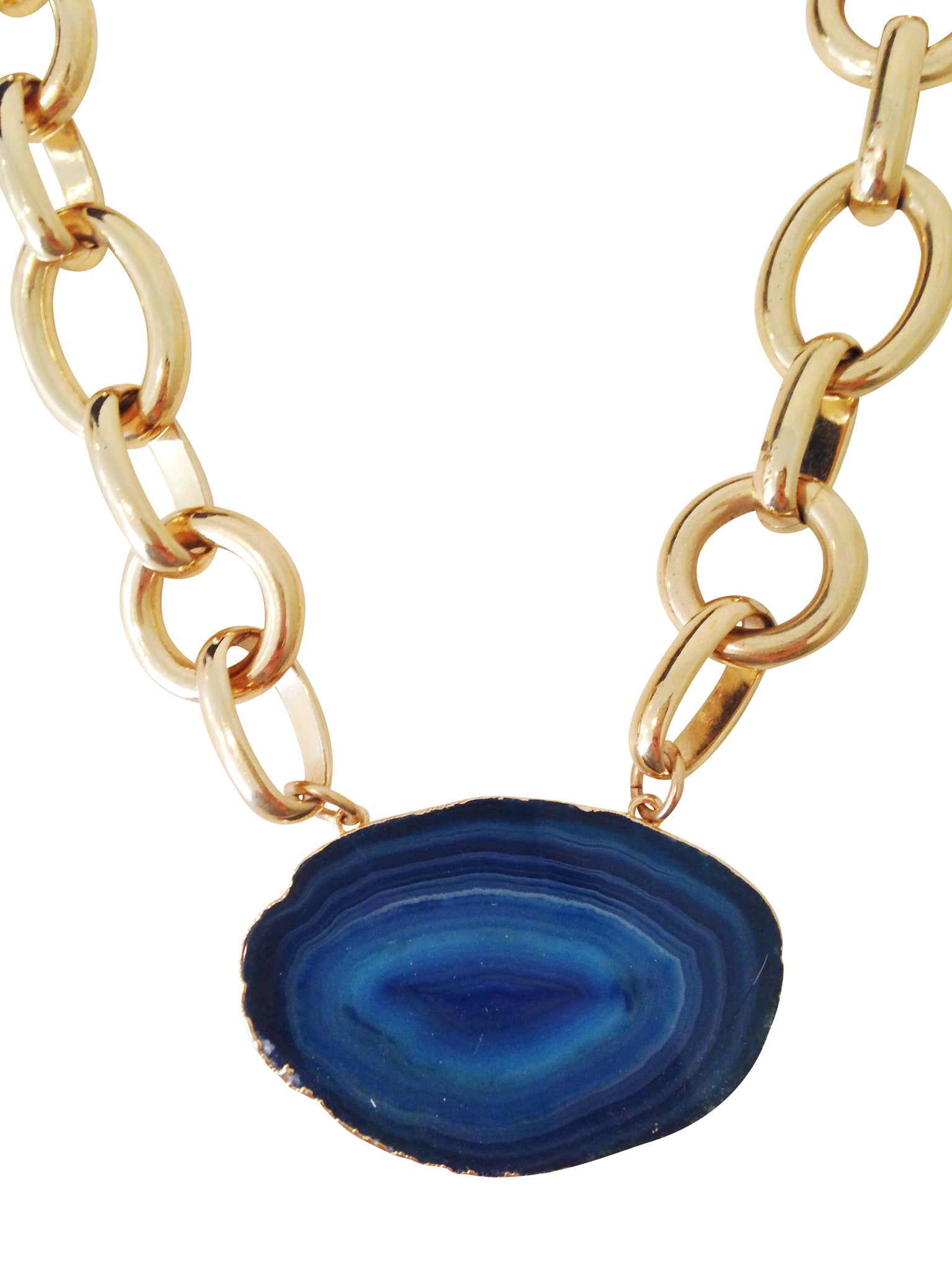 Molly Jane Designs Agate Slice Pendant Necklace