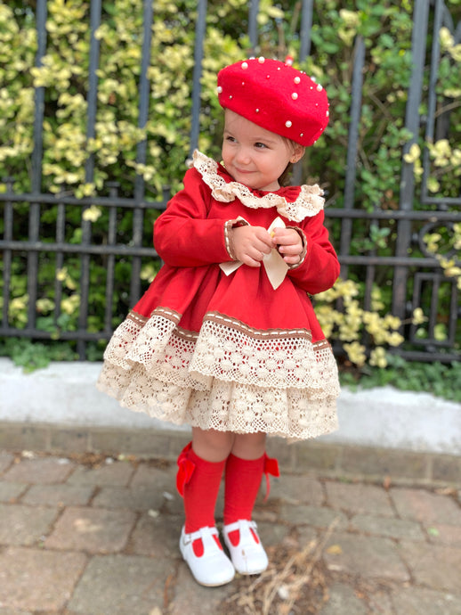 Ada girls red dress