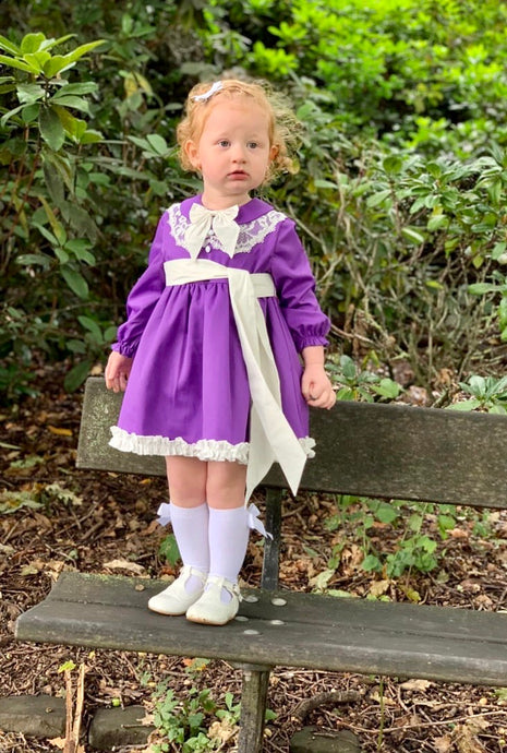 Dolcie Girls Purple Dress. 25% Off, Lux25 at checkout