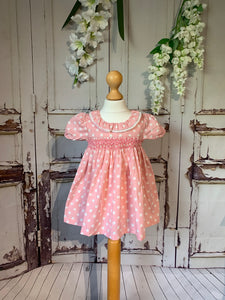 Nova Polkadot smock dress