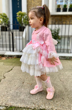 Load image into Gallery viewer, Bella PINK Girls Exclusive puffball Dress