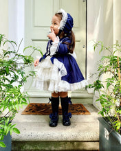 Load image into Gallery viewer, Bella NAVY Girls Exclusive puffball Dress