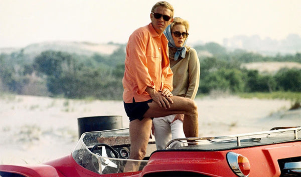 We've Recreated the Thomas Crown Affair Orange Beach Shirt