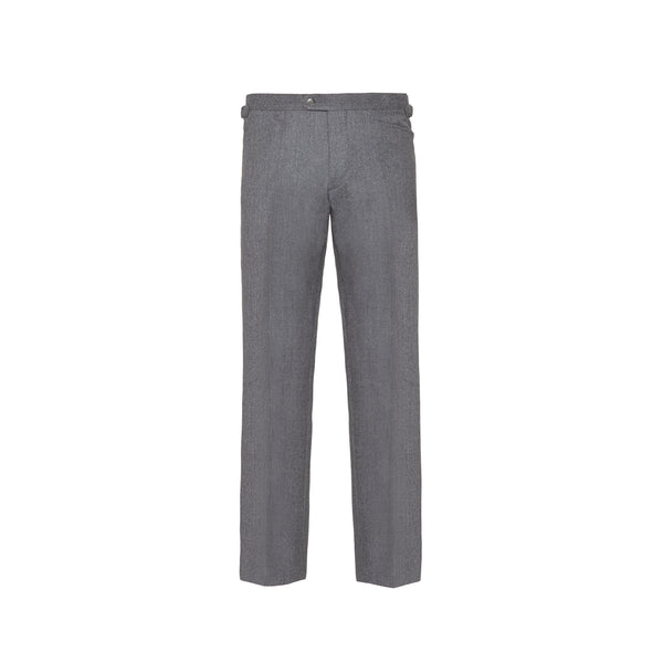 Light Grey Slim Fit Flannel Trousers