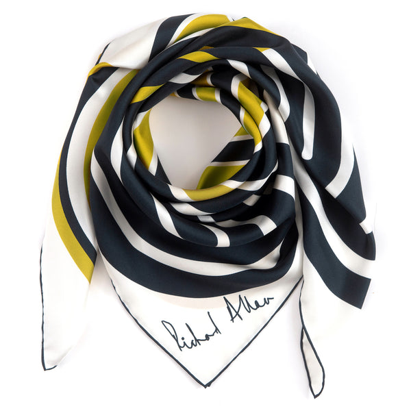Chartreuse Circuit Silk Scarf