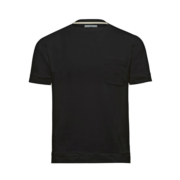 Black Boat Neck Cutter T-Shirt