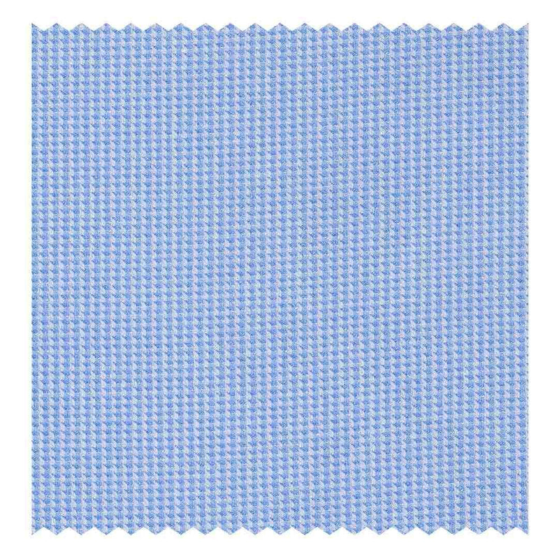 Sky-Blue Houndstooth Oxford (2 Fold 80's)