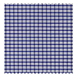 Navy-Blue Mini-Windowpane Poplin (2 Fold 100's)