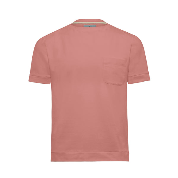 Pink Boat Neck Cutter T-Shirt