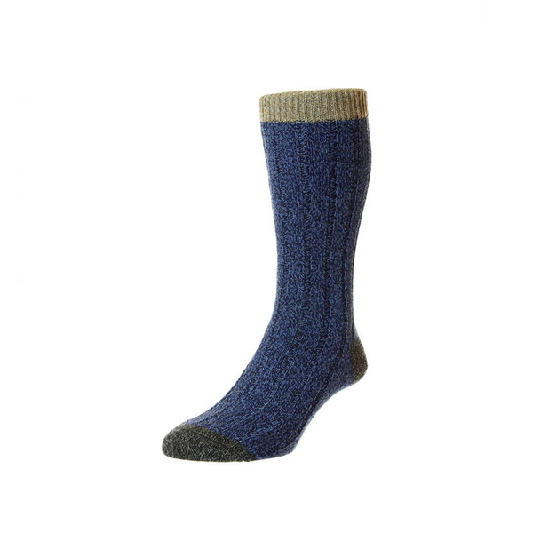 Denim Marl Burghley Socks