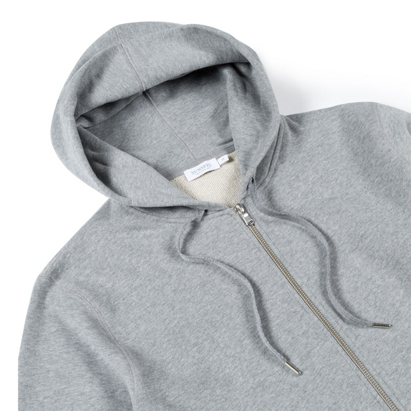 Mason & Sons | Sunspel Cotton Loopback Zip Hoody - 2
