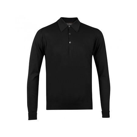 Black Finchley Long Sleeved Polo