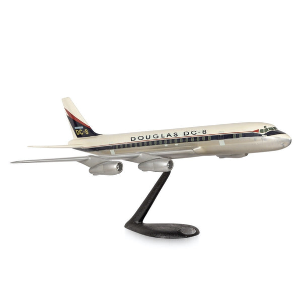 C20th American Aluminium Airplane Model, Douglas Dc-8