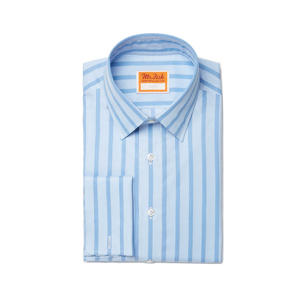 Blue-on-Blue Striped Shirt
