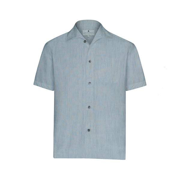 Light Blue Chambray Short Sleeve Marina  Shirt
