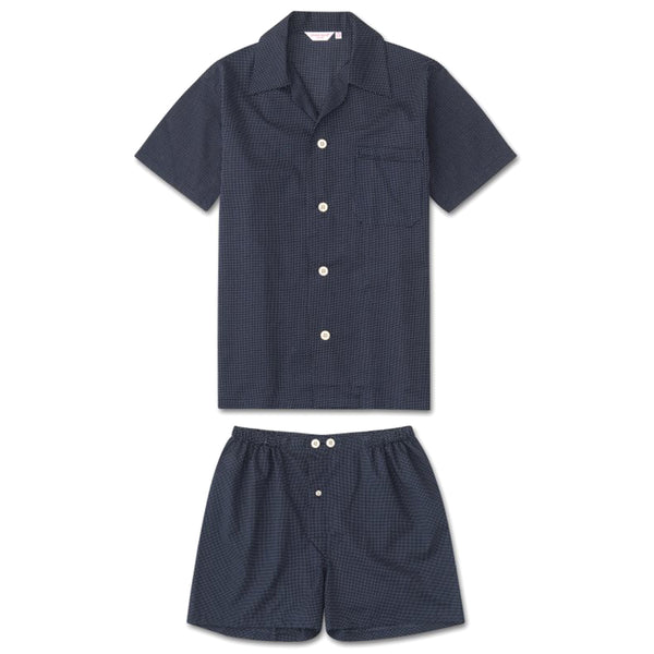 Plaza 21 Navy Pola Dot Batiste Short Pyjamas