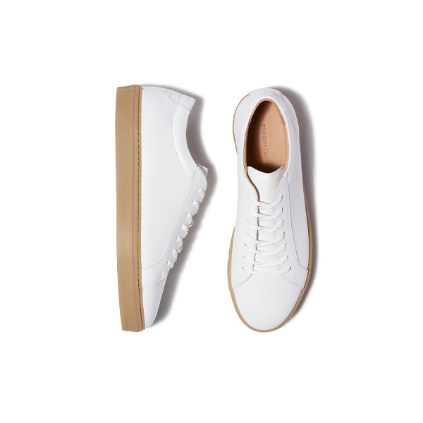 White Gum Leather Series 1 Sneakers