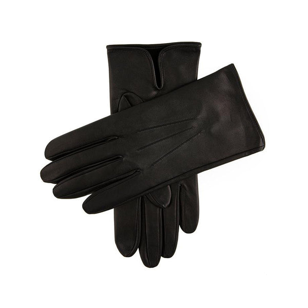 Black Unlined Peccary Leather Gloves