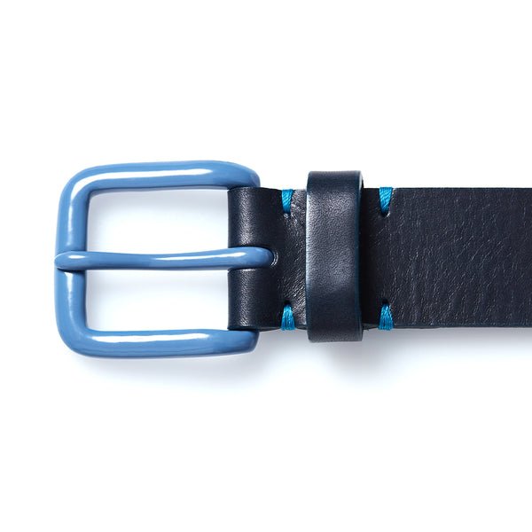 Modernist Belt in Navy with Slate Blue