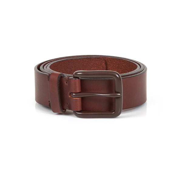 Modernist Belt in Russett Brown with Brown