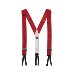Mason & Sons | Albert Thurston Red Moire Braces -1
