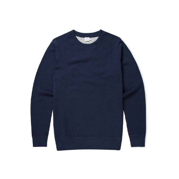 Navy Cotton Loopback Sweatshirt