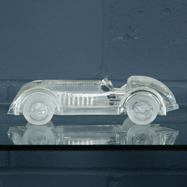 Beautiful French Model Of A Glass Car, Daum c1980