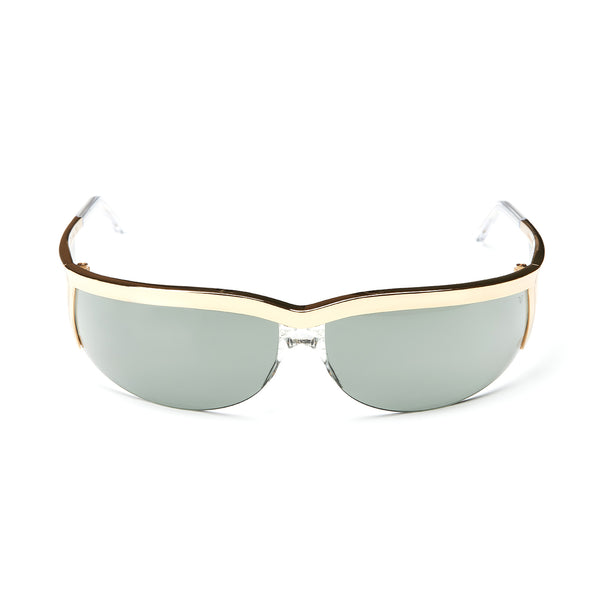 Rossano Gold Sunglasses with Cezanne Green