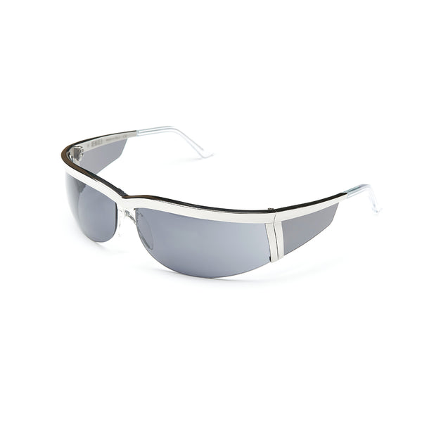 Rossano Silver Sunglasses with Gauguin Grey