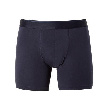 Blue Stretch Cotton Long Leg Trunks