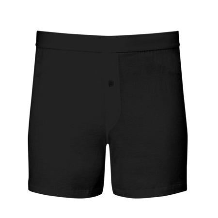 Black Superfine Cotton One-Button Shorts