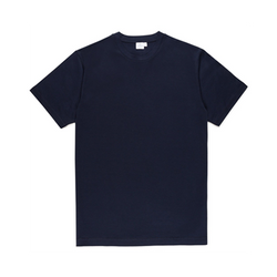Mason & Sons | Sunspel Riviera Crew Neck T-Shirt Navy (1)