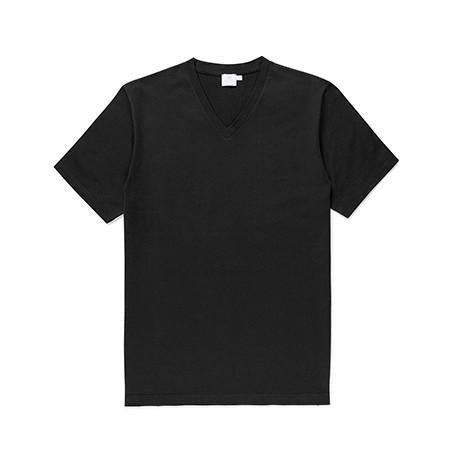 Black Classic Cotton V-Neck T-Shirt