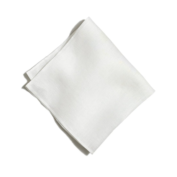 White Linen Pocket Square