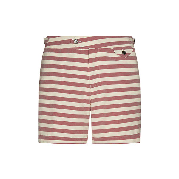 Red Regatta Stripe Clipper Swim Shorts