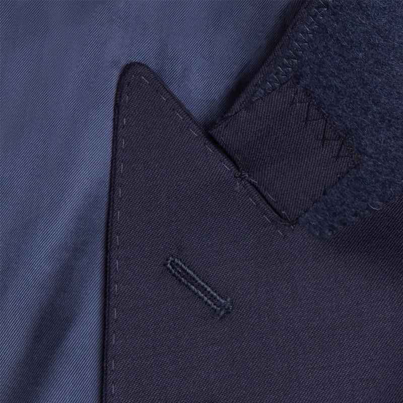Dark Navy Twill Double Breasted Conduit Cut Suit