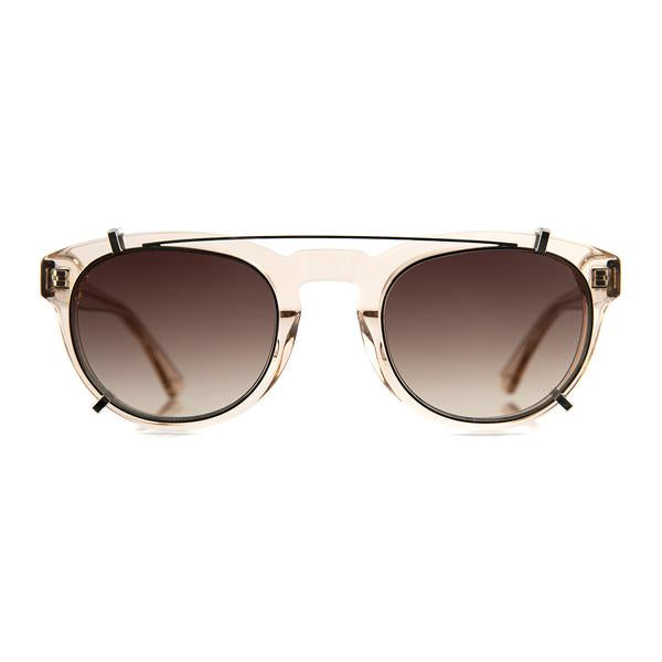 Champagne Freddie Frames with Brown Clip-ons