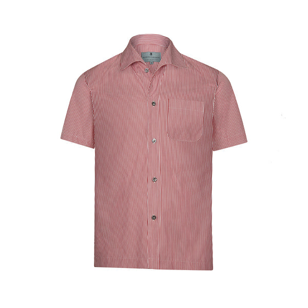 Red Bengal Stripe Short Sleeve Marina Shirt