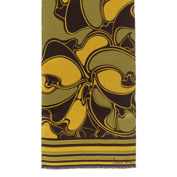 Citrine Metro Long Silk Scarf