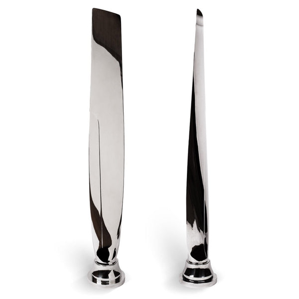 Pair of Highly Polished Airplane Propeller Blades
